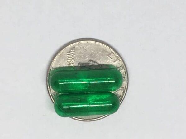 translucent green-size 0- gelcaps