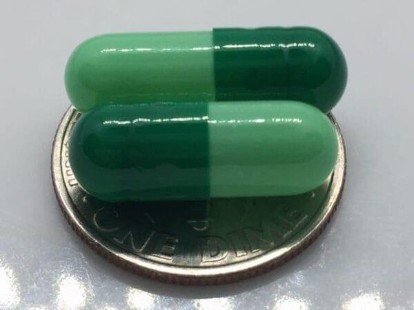 green-mint-gelcaps-empty-gelatin-capsules-size 3