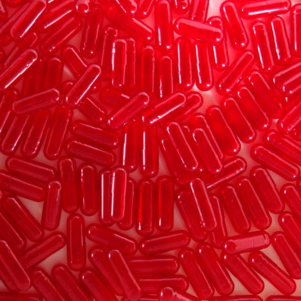 Translucent Berry Colored Size 4 Empty Gelatin Capsules