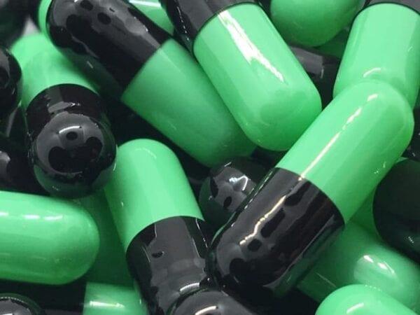 gelatin-capsules-gelcaps-size 4-black-mint