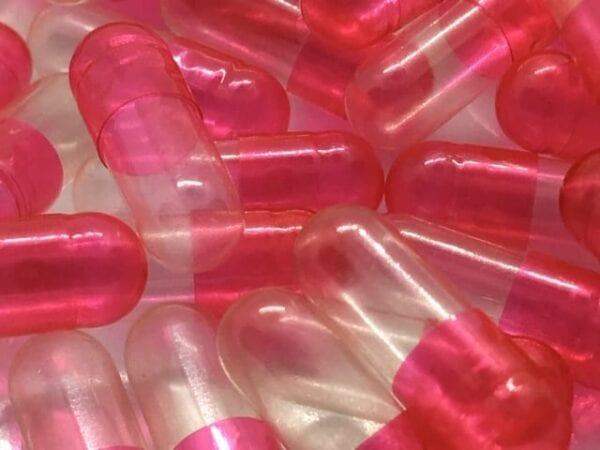 translucent-pink-gelatin-capsules-gelcaps-size 4