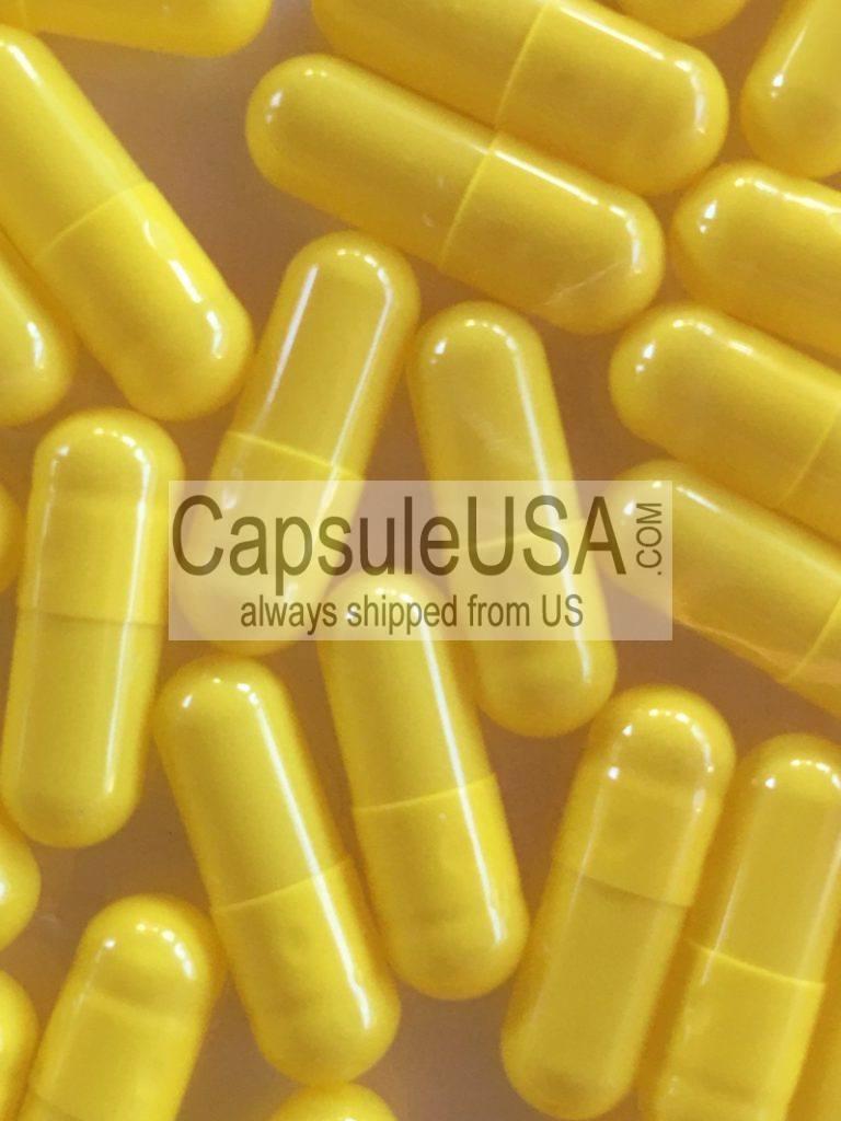 Yellow Size 5 Empty Gelatin Capsules