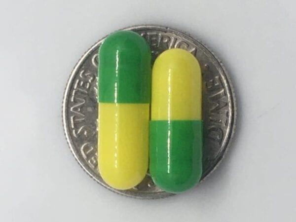 green-yellow-empty-gelatin-capsules-size4