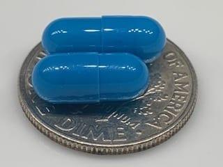 blue size 5 empty gelatin capsules
